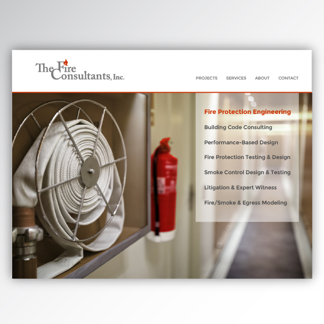 The Fire Consultants website